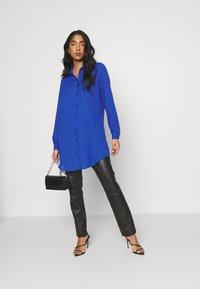 Vila - VILUCY BUTTON - Button-down blouse - mazarine blue - 1