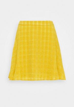 TEXTURED SKIRT - A-line skirt - mustard