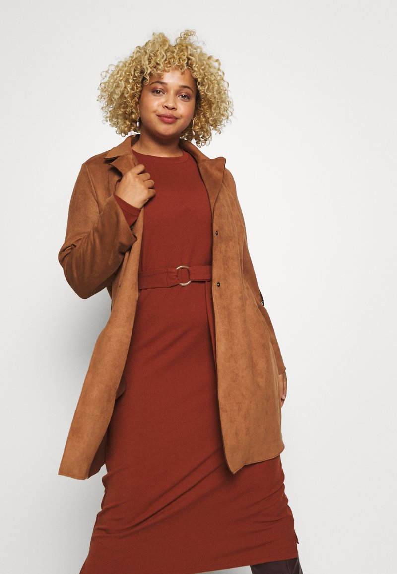ONLY Carmakoma - CARJOLINE FAUX SUEDE COAT  - Manteau classique - argan oil