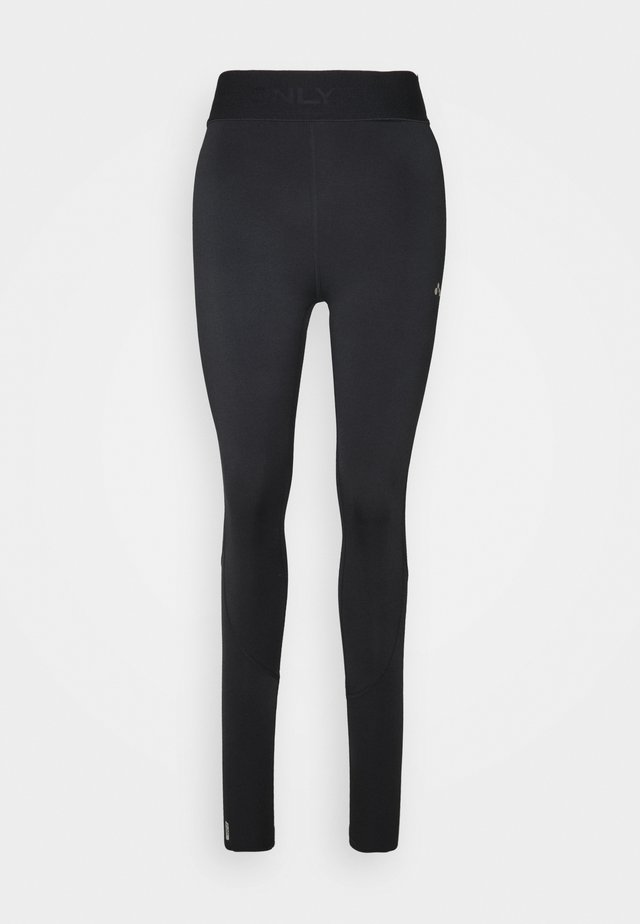 ONPGILL HISS BRUSHED TRAIN TIGHTS - Leggings - black
