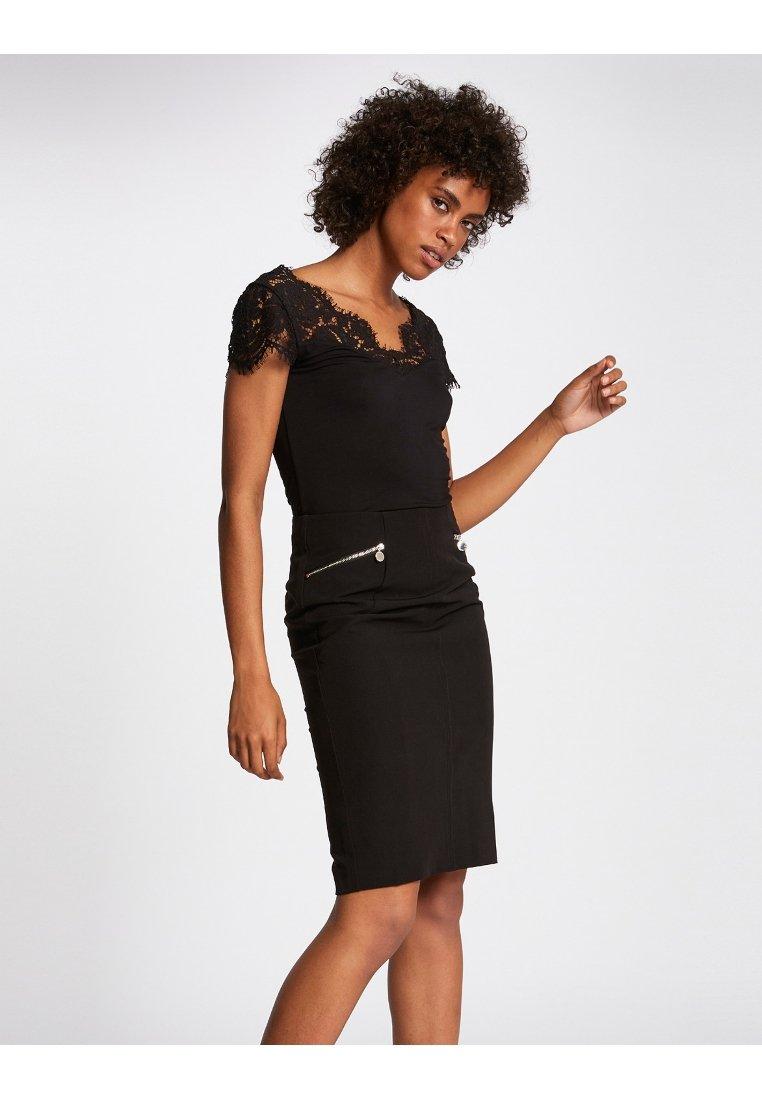 Morgan - T-shirt med print - black