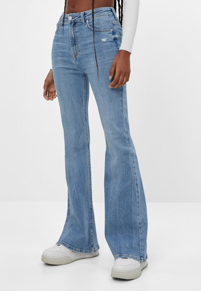 Jean bootcut - blue denim