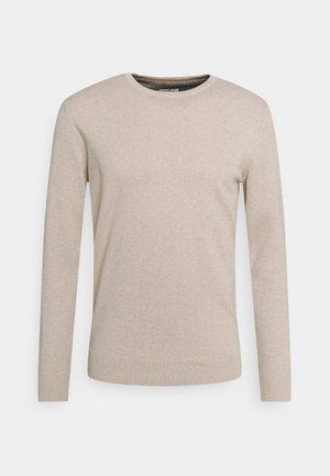 BASIC CREW NECK  - Strickpullover - beige dark melange