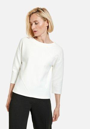 MIT RIPPSTRUKTUR - T-shirt à manches longues - off white