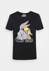 ONLBUNNY LOVE LIFE BOX - Printtipaita - black/bunny love