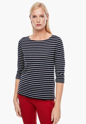 Long sleeved top - dark blue stripes