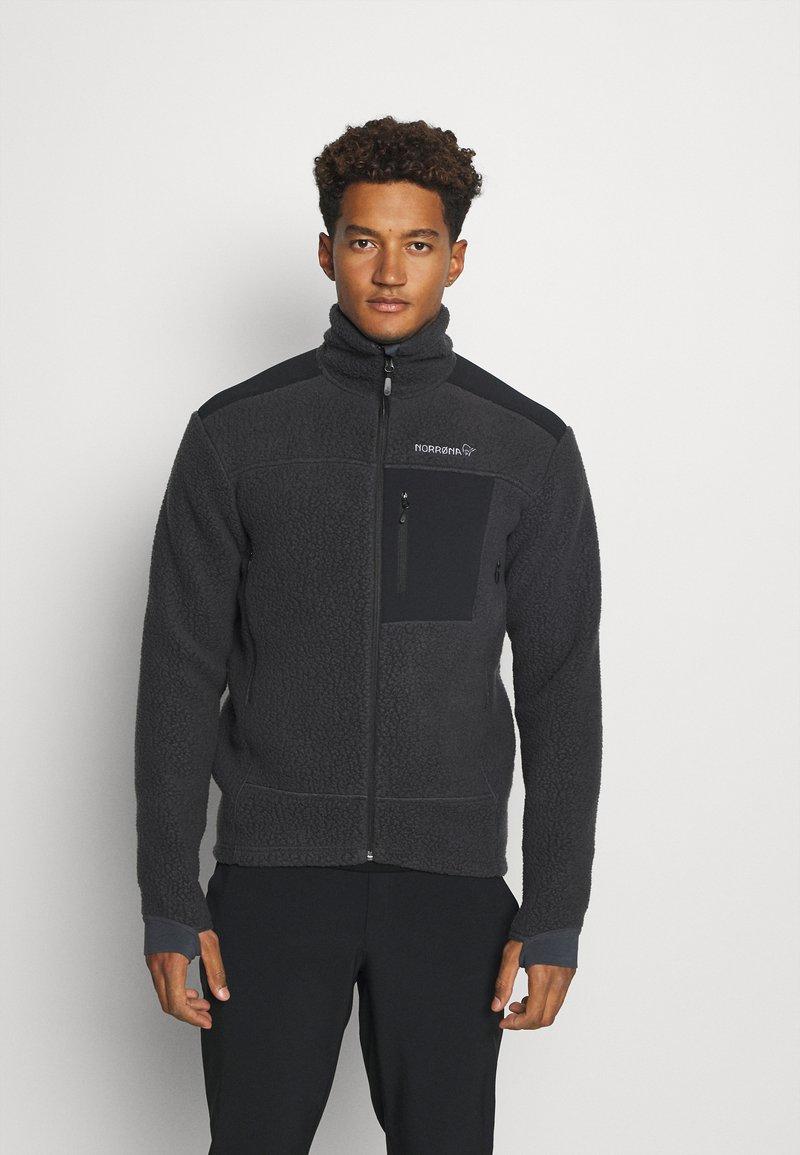 Norrøna - TROLLVEGGEN THERMAL PRO JACKET - Fleece jacket - black