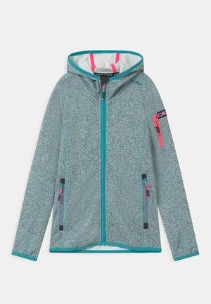 FIX HOOD UNISEX - Fleece jacket - giada/bianco