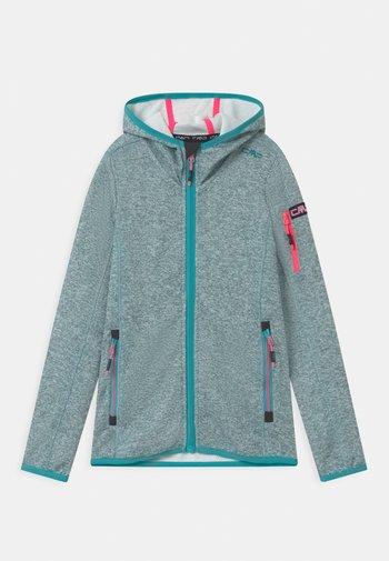 FIX HOOD UNISEX - Fleece jacket - giada/bianco