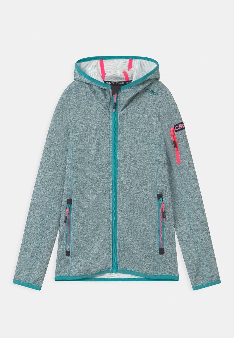CMP - FIX HOOD UNISEX - Fleece jacket - giada/bianco