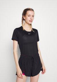 Nike Performance - ONE - T-shirts - black/white - 0