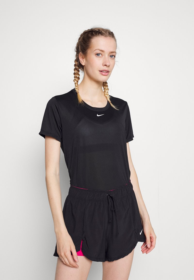 Nike Performance - ONE - T-shirts - black/white