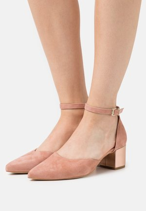 LEATHER - Classic heels - light pink