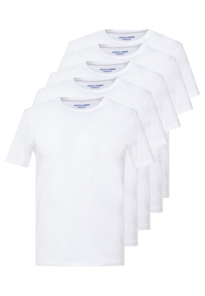 Jack & Jones - JORBASIC CREW NECK 5 PACK  - T-shirt basic - only white