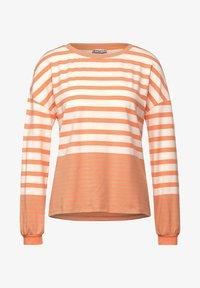 Street One - MIT STREIFEN - Long sleeved top - strong mandarine - 3
