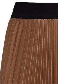 HALLHUBER - MIT KONTRASTBUND - A-line skirt - caramel - 4