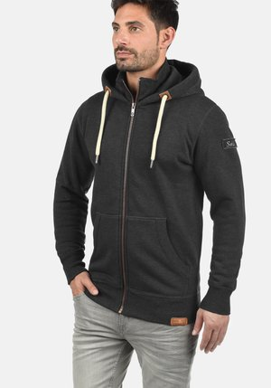 TRIPZIP - Zip-up hoodie - dark grey melange