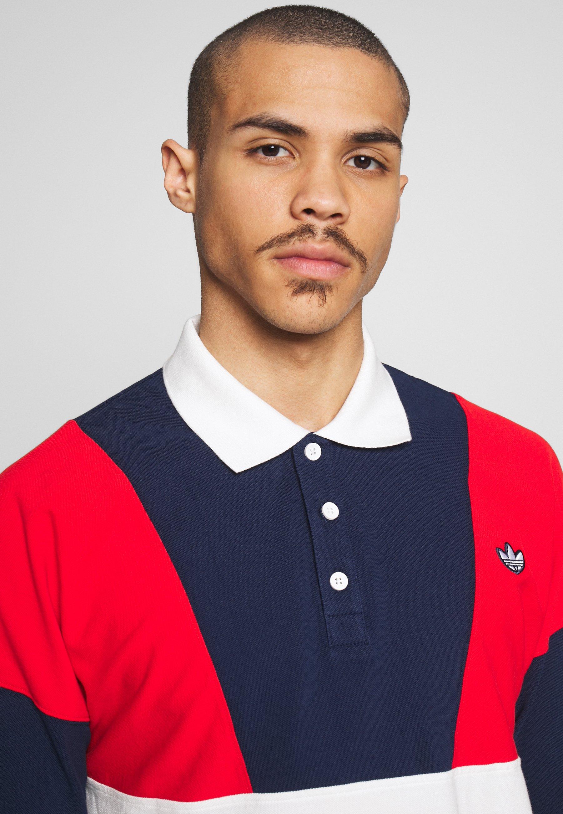 Adidas Originals Koszulka Polo - Red/white/blue