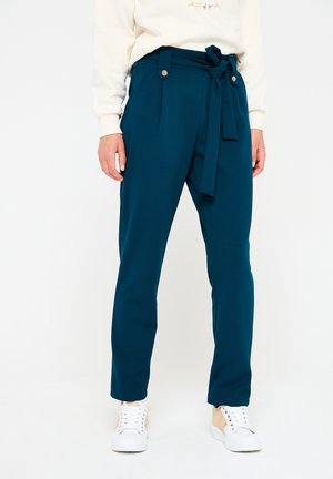 PAPER  WITH BELT - Trousers - blue