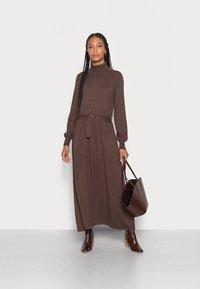 Esprit Collection - CORE  - Jumper dress - dark brown - 1