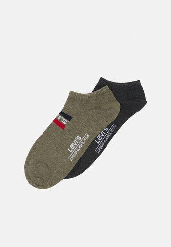 LOW CUT LOGO 2 PACK UNISEX - Socks - dark green combo