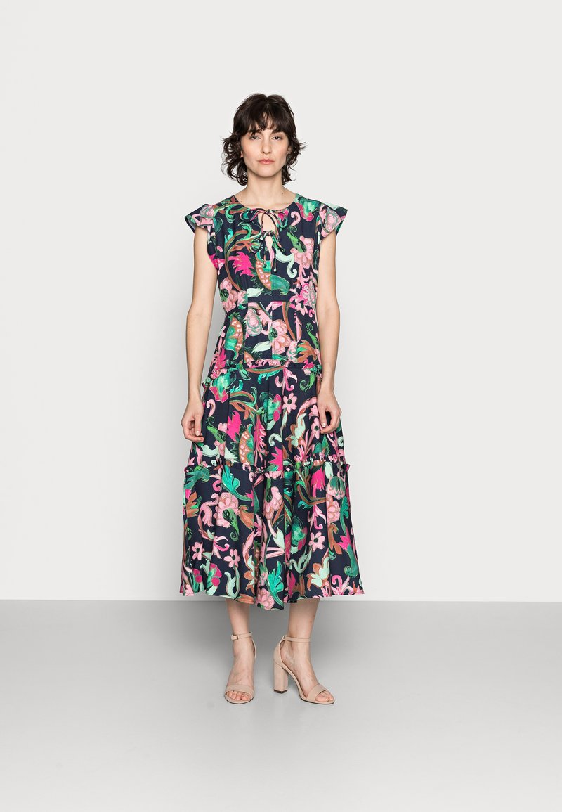 Thought - ESTELLE A-LINE DRESS - Denní šaty - navy