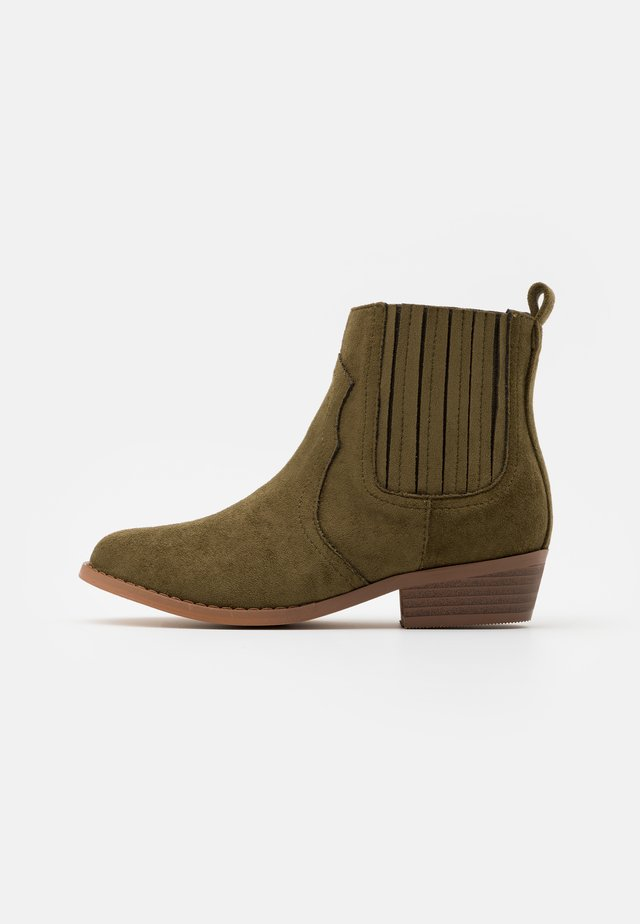 WESTERN BOOT - Classic ankle boots - beatle green