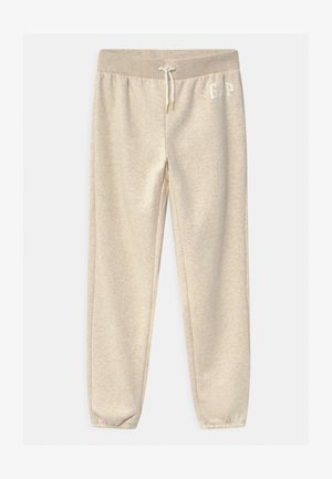 GIRL LOGO - Pantaloni sportivi - oatmeal heather
