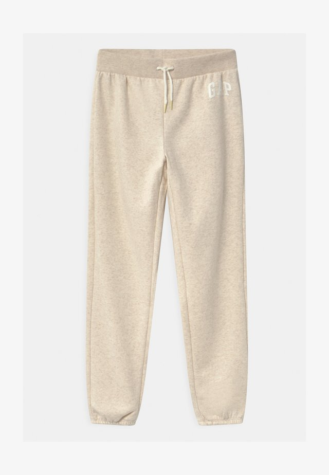 GIRL LOGO - Tracksuit bottoms - oatmeal heather