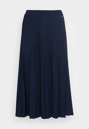 PLISSEE SKIRT - Spódnica trapezowa - midnight blue