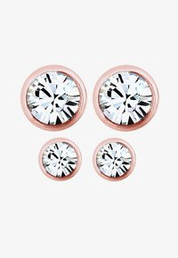 Elli - 2er Pack Stecker - Earrings - rosegold-coloured/white - 1