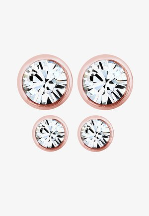 2er Pack Stecker - Boucles d'oreilles - rosegold-coloured/white