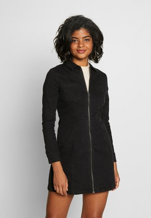 NMLISA ZIP DRESS - Vestito di jeans - black