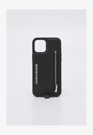 PHONE CASE LANYARD COIN UNISEX - Handytasche - black