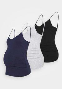 3 PACK - Top - black/dark blue/dark grey