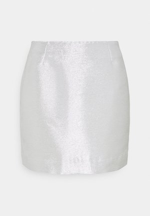LUCY SKIRT - Minifalda - silver