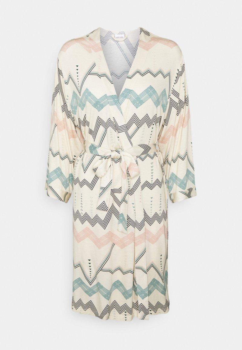 LASCANA - NATIVE KIMONO - Dressing gown - light beige