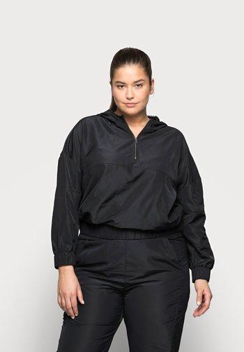 NMKAJA HOOD - Summer jacket - black