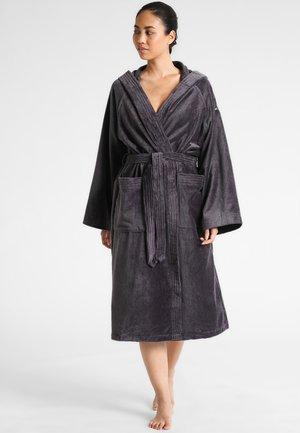 BASIC VELOURS - Dressing gown - dark grey