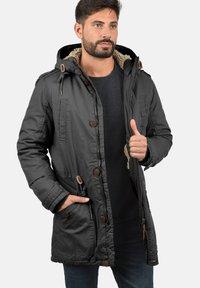 Solid - WINTERJACKE CLARKI TEDDY - Winter coat - dark grey - 2