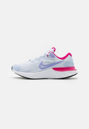 RENEW RUN 2 GS - Neutral running shoes - football grey/purple pulse/fireberry/thunder blue/white