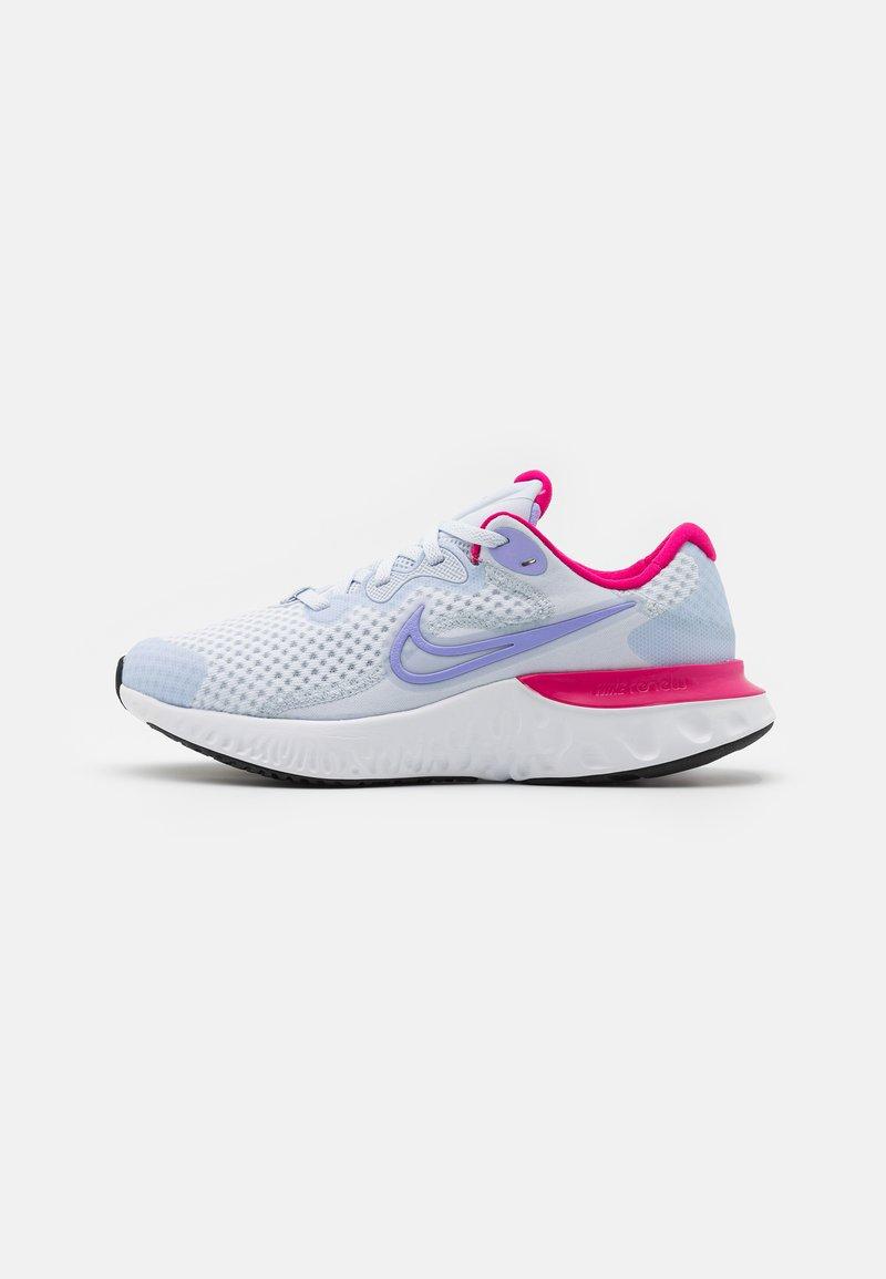 Nike Performance - RENEW RUN 2 GS - Neutrální běžecké boty - football grey/purple pulse/fireberry/thunder blue/white