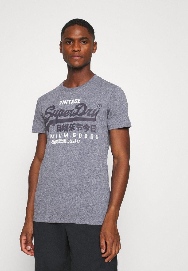Superdry - TEE - Print T-shirt - tois blue heather