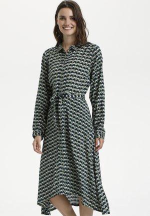 KAAMY  - Shirt dress - hedge green geometric retro