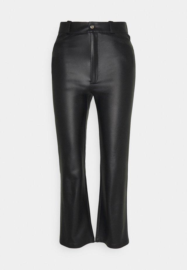 STRAIGHT PANTS - Kangashousut - black
