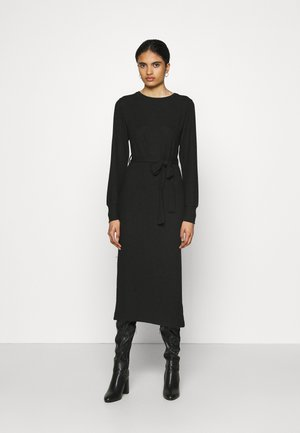CUT AND SEW BELT MIDI - Jumper dress - black