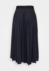 Esprit - PLISEE SKIRT - Pleated skirt - navy - 1