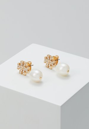 KIRA PAVE PEARL DROP EARRING - Náušnice - gold-coloured