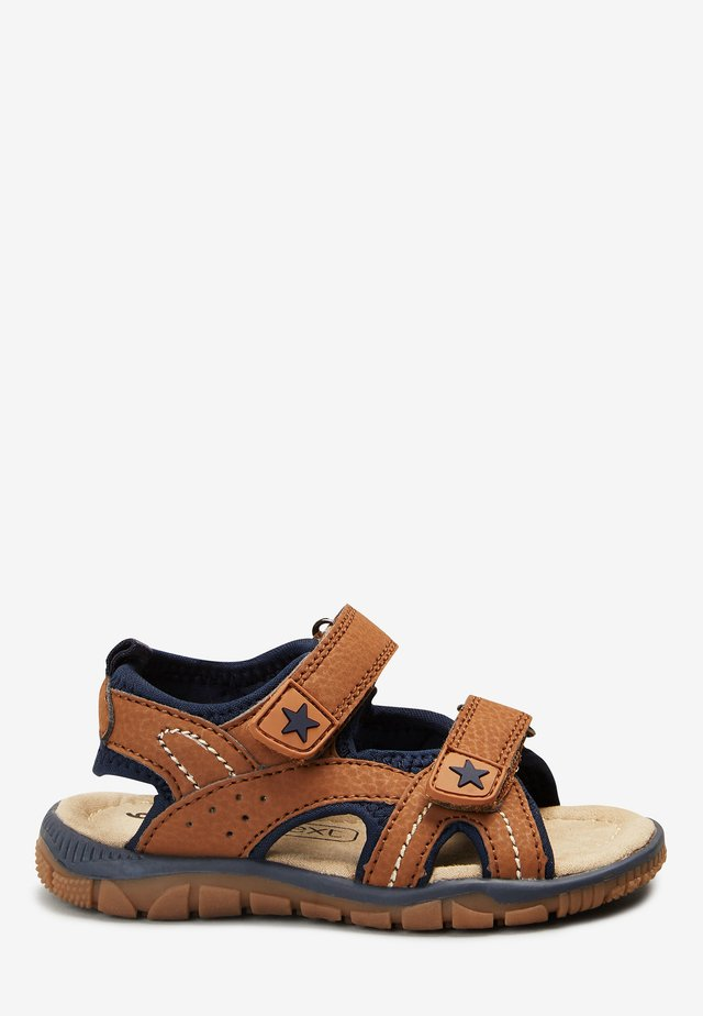 NAVY TWO STRAP (YOUNGER) - Sandals - mottled brown