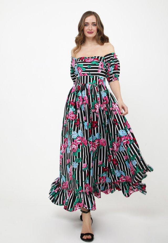 FEDERIKA - Vestito lungo - schwarz/rosa